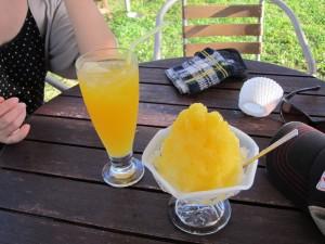 宮良農園のマンゴーフラッペとグァバジュース