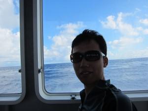 西表島へ船で向かいます