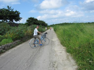 竹富島を自転車で一周スタート