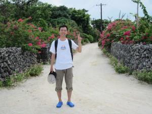 竹富島集落の道