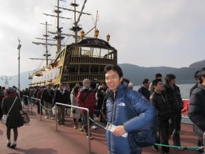 海賊船に乗り込みます